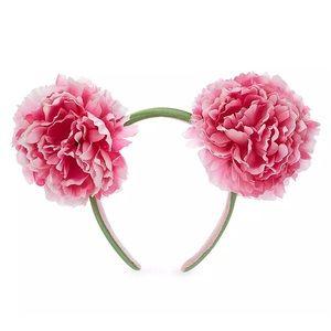 Disney Pink Peony Mickey Ear Headband